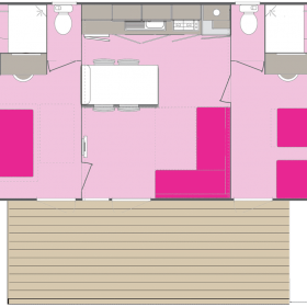 camping-mobil-home-bretagne-Premium-4-personnes-plan