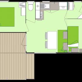 camping-mobil-home-bretagne-3-fleurs-5-personnes-plan