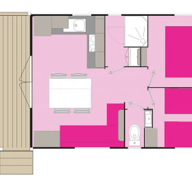 camping-mobil-home-bretagne-4-fleurs-4-personnes-plan