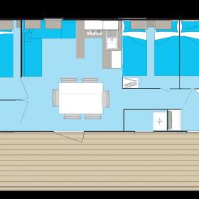 camping-mobil-home-bretagne-4-fleurs-40m2-6-personnes-plan