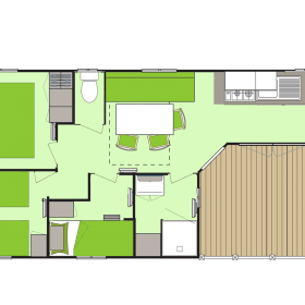 camping-mobil-home-bretagne-4-fleurs-5-6-personnes-plan